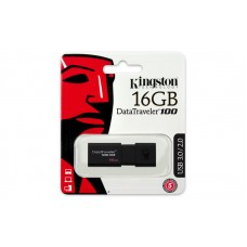 Kingston 16GB Flash Drive USB3.1/3.0/2.0 (DT100G3/16GB)