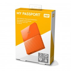 WD My Passport 2TB Portable Hard Drive USB 3.0 Orange