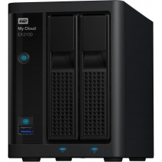 12TB WD  My Cloud EX2100 Expert Series 2-Bay Network Attached Storage - NAS - WDBWAZ0120JBK-EESN