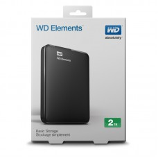 WD Elements 2TB Portable Hard Drive USB 3.0 Model WDBU6Y0020BBK-WEESN Black