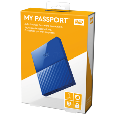 1TB Hdd Ext  WD MyPassport Blue New WDBYNN0010BBL-WESN Blue