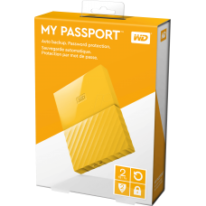 WD My Passport 2 TB Portable Hard Drive USB 3.0  WDBYFT0020BYL-WESN Yellow