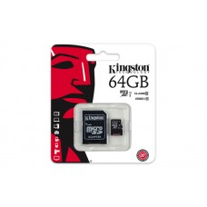 Kingston 64GB microSDHC Class 10(SDC10G2/64GB) with adapter