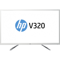 "31.5"" HP LED Monitor (V320) 1920X1080 Full HD (White Color)"