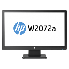 "HP W2072a Black 20"" 5ms Widescreen LED-Backlit LCD Monitor Built-in Speakers"