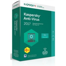 Kaspersky Anti Virus 2017 (1USER + 1 License)