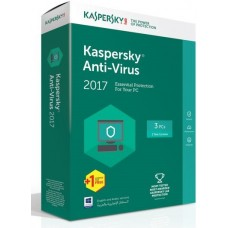 Kaspersky Anti Virus 2017 (3USER + 1 License)